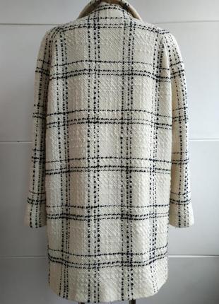 Шерстяное пальто бренда marks&spencer в широкую клетку с боковыми карманами2