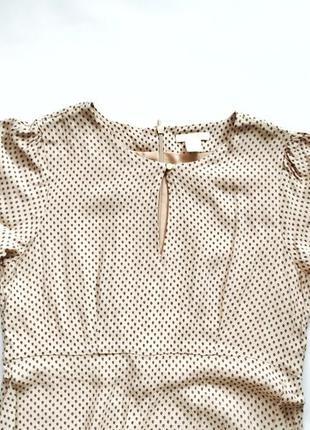 Крепко шифоновое платье h&m воздушное струящееся по талии7