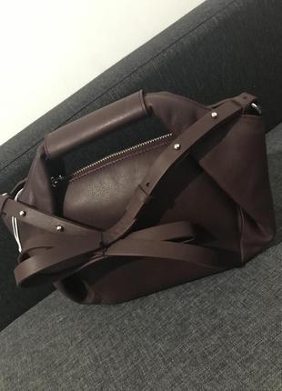 Cos сумка бордовая4 фото