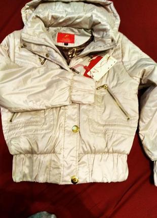 Нова куртка бежевого кольору1