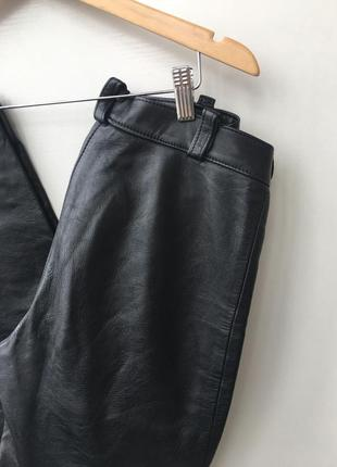 Кожаные брюки высокая посадка2