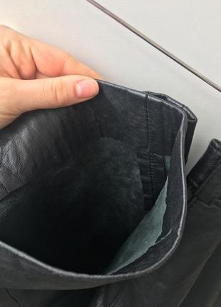 Кожаные брюки высокая посадка4