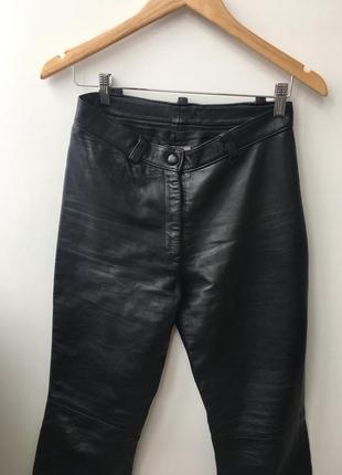 Кожаные брюки высокая посадка5