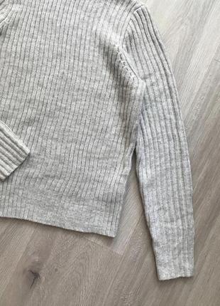 Стильний базовий светрик джемпер свитер з горловиною в крупний рубчик5