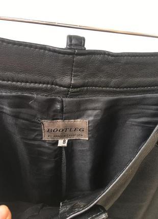 Кожаные брюки высокая посадка6