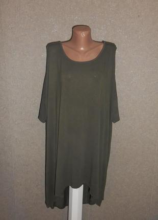 Стильная, удлиненная футболка с вискозы, удлиненная спинка.3