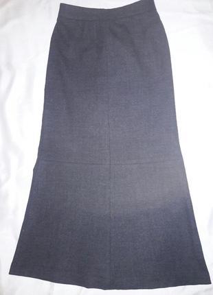 Базовая юбка италия  шерсть костюмная