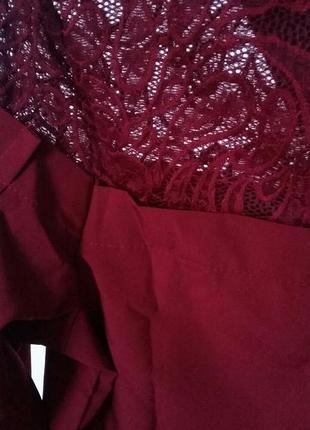 Шикарная блуза с кружевом и брошью.5