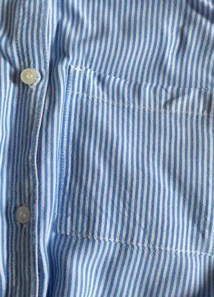 Полосатая рубашка без рукавов с кармашком3