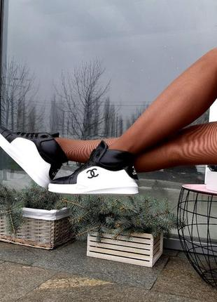 Кроссовки женские высокие натуральная кожа7 фото