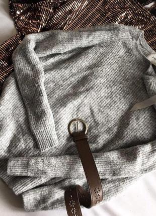 Стильний светр papaya із срібною ниткою 12/401