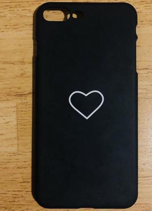Чехол с сердечком на айфон 7+ /8+