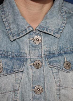 Трендовый женский джинсовый жилет  безрукавка, размер 82