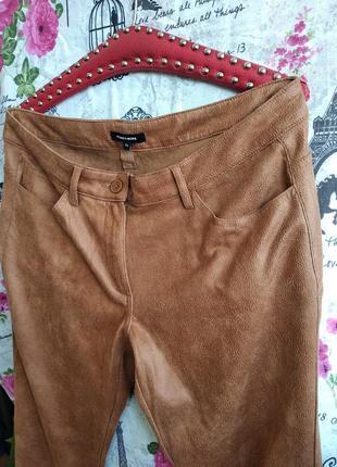 Крктейшие брюки под замшу✓✓✓5