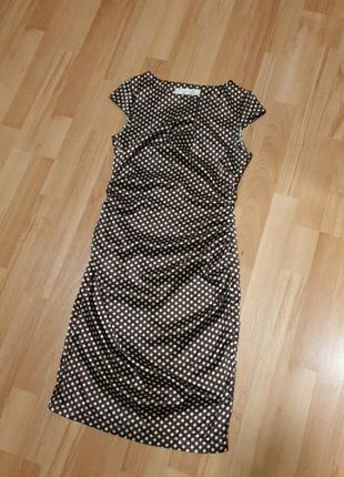 Летнее легкое платье в горошек1 фото