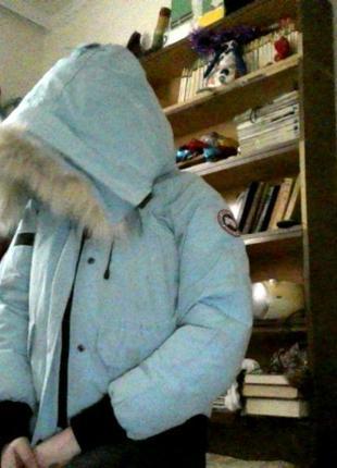 Женственная теплая куртка оригинал от canada goose привезена из испании1