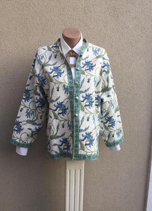 Двухсторонняя,стёганная,легкая куртка,жакет,пиджак,кардиган,хлопок,индия,эксклюзив,этно3 фото