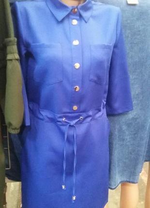 Платье-рубашка на кулиске.2 фото