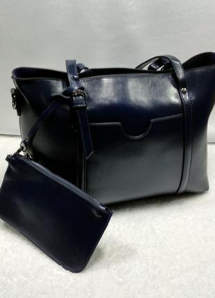 Кожаная сумка с ключницей2 фото