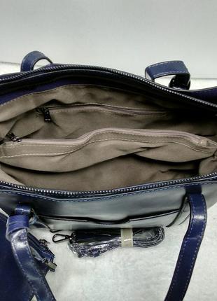 Кожаная сумка с ключницей3 фото