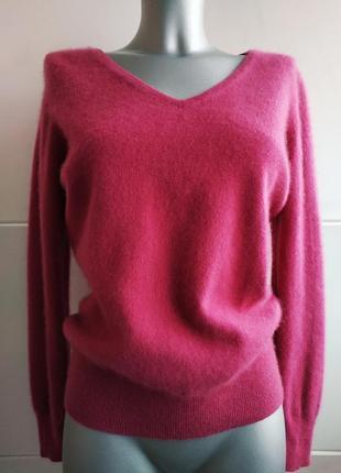 Кашемировый свитер, пуловер (100% кашемир) tu малинового цвета.1