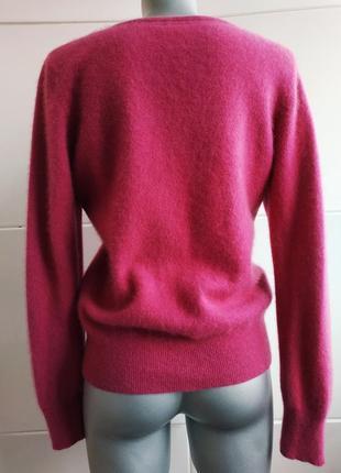 Кашемировый свитер, пуловер (100% кашемир) tu малинового цвета.3
