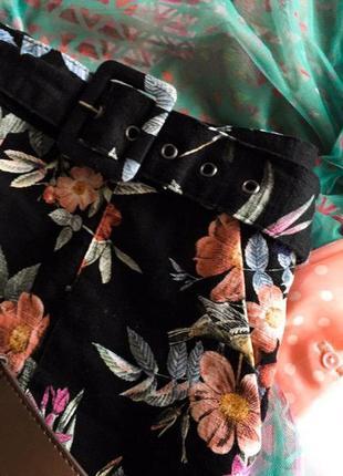 Дуже крута спідничка в квітковий принт oasis s/362 фото