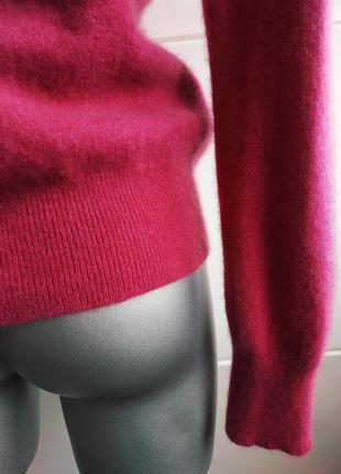 Кашемировый свитер, пуловер (100% кашемир) tu малинового цвета.4