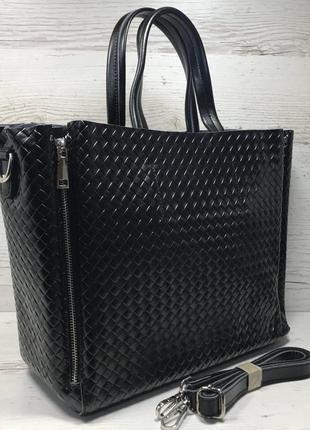 Женская кожаная сумка черная бронза коричневая пудра жіноча шкіряна сумка чорна2