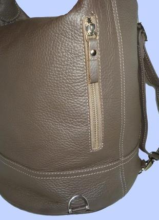 Шикарная  большая сумка  трансфомер рюкзак натуральная кожа1