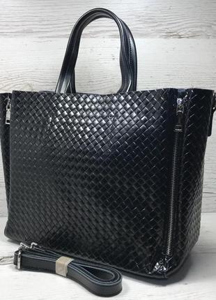 Женская кожаная сумка черная бронза коричневая пудра жіноча шкіряна сумка чорна3