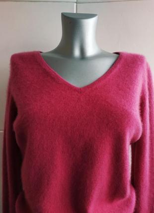 Кашемировый свитер, пуловер (100% кашемир) tu малинового цвета.8