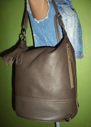 Шикарная  большая сумка  трансфомер рюкзак натуральная кожа5
