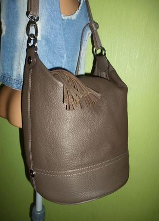 Шикарная  большая сумка  трансфомер рюкзак натуральная кожа6