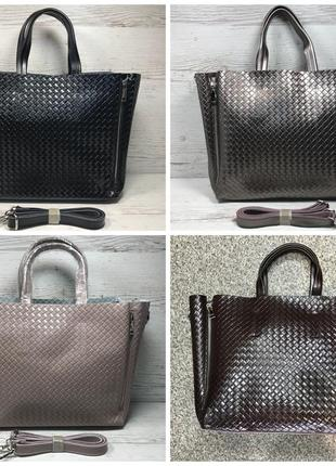 Женская кожаная сумка черная бронза коричневая пудра жіноча шкіряна сумка чорна5