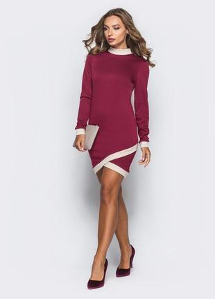 Приталенное платье из французского трикотажа1
