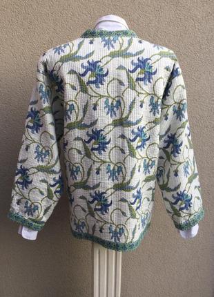 Двухсторонняя,стёганная,легкая куртка,жакет,пиджак,кардиган,хлопок,индия,эксклюзив,этно4 фото