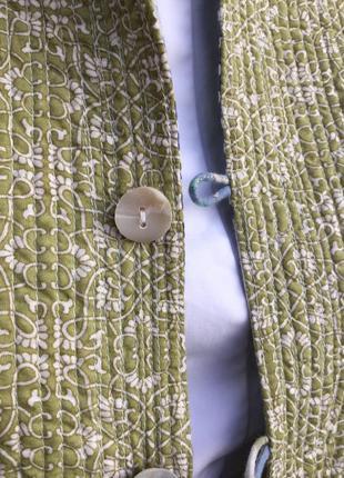 Двухсторонняя,стёганная,легкая куртка,жакет,пиджак,кардиган,хлопок,индия,эксклюзив,этно5 фото
