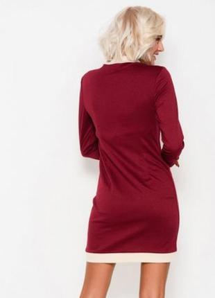 Приталенное платье из французского трикотажа2