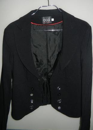 Черный пиджак oggi 164/92 новый2