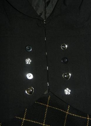 Черный пиджак oggi 164/92 новый4