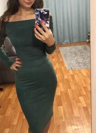 Замшевое платье2 фото