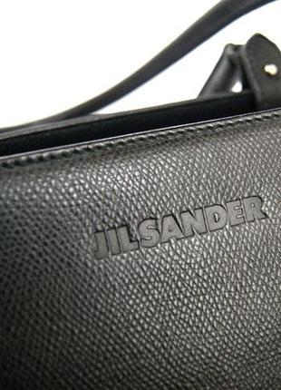 Люкс бренд. jil sander. германия. лаконичная кожаная сумка на плечо.3