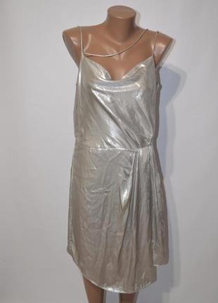Платье металлик на тонких бретелях h&m5