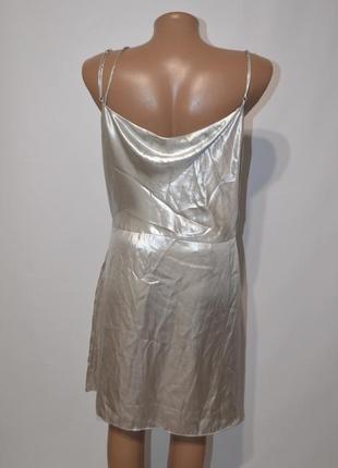 Платье металлик на тонких бретелях h&m6