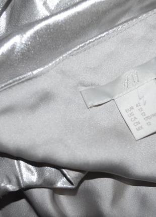 Платье металлик на тонких бретелях h&m7