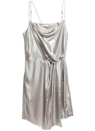 Платье металлик на тонких бретелях h&m3