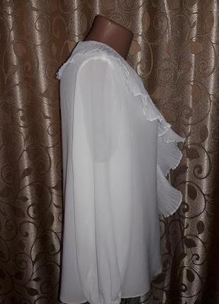Красивая женская белая блузка с жабо debut4