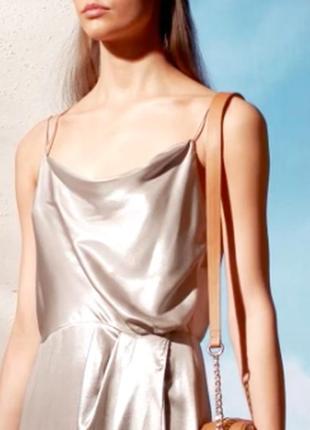 Платье металлик на тонких бретелях h&m4
