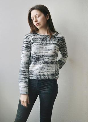 Легкий меланжевый свитер h&m